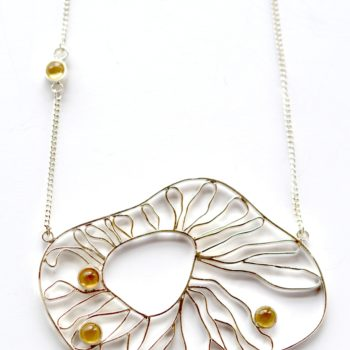 Collier Filigrane et Citrine